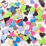 300 colorful little hearts ..