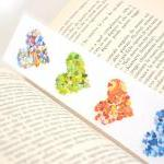 Laminated bookmark - rainbo..