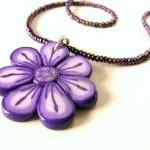 Lavender Flower Necklace, ..