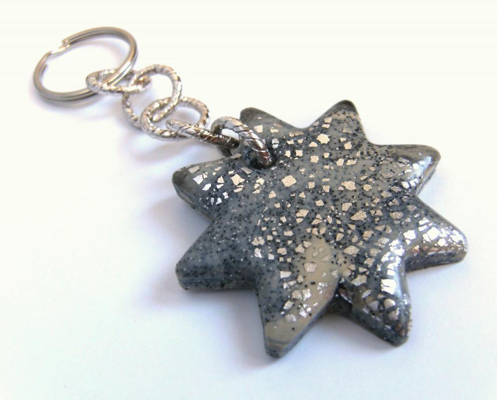 Shining Stardust Keyring in polymer clay